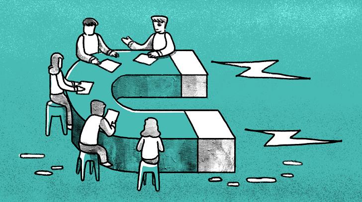 جلسه کاری در بازاریابی درونگرا