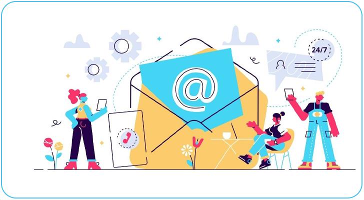 اطلاعات تماس در ایمیل