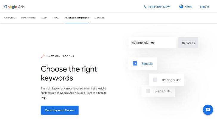 سایت keyword planner