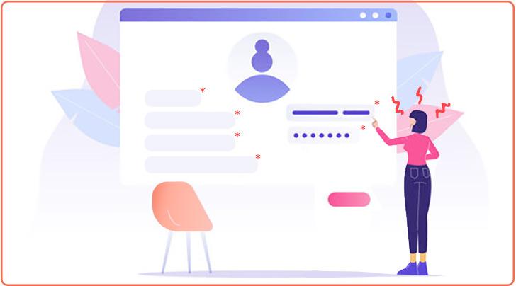پرکردن اطلاعات برای ثبت نام کاربران