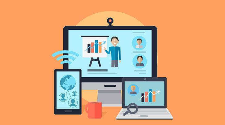 اتصال مناسب اینترنت تنها وسیله موردنیاز وبینارر
