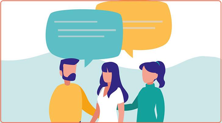 صحبت کردن با مردم
