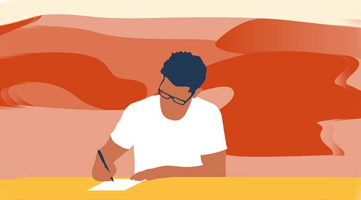 نوشتن ایدهها بر روی کاغذ