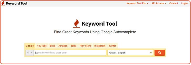 ابزار keyword-tool