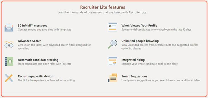 پلن recruiter در لینکدین پریمیوم