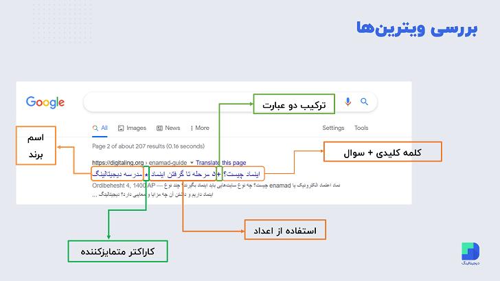 بررسی تگ عنوان سئو در گوگل